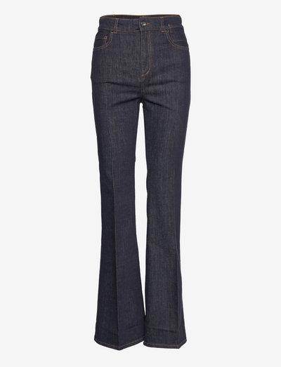 DENIM LOVE pants - flared jeans - dark denim blue