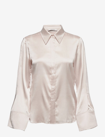 SENSE OF SHINE blouse - overhemden met lange mouwen - white sand