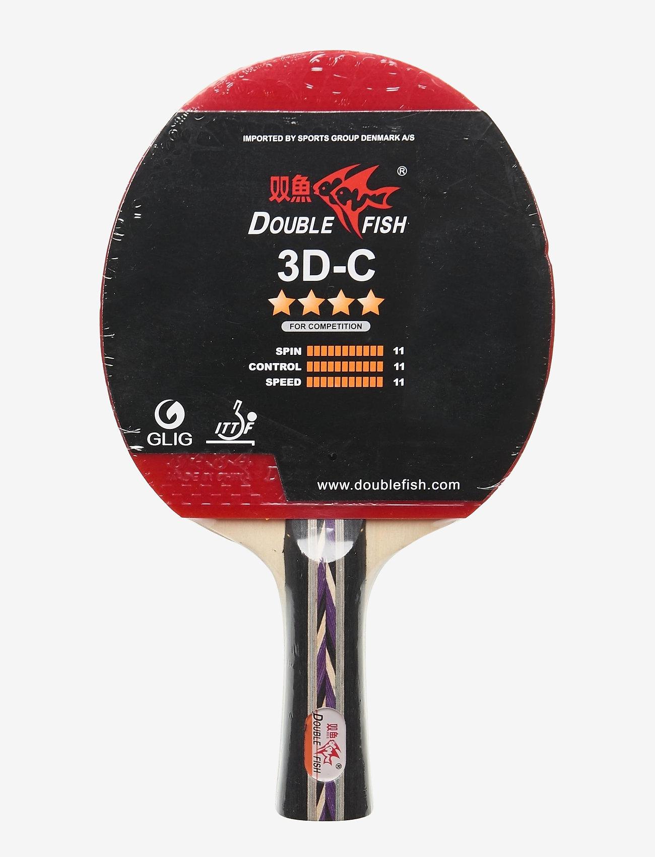 Double Fish - 3D-C Table Tennis Racket - bordtennisbat - 1001 black - 0