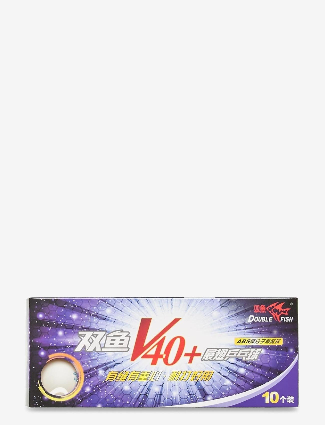 Double Fish - 40+0-star Table Tennis Ball (10 pcs.) - ballen en accessoires - 1002 white - 1