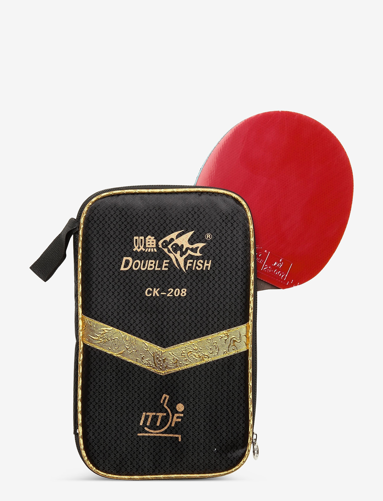 Double Fish - CK-208 Tournament Table Tennis Racket - bordtennisbat - 1001 black - 0