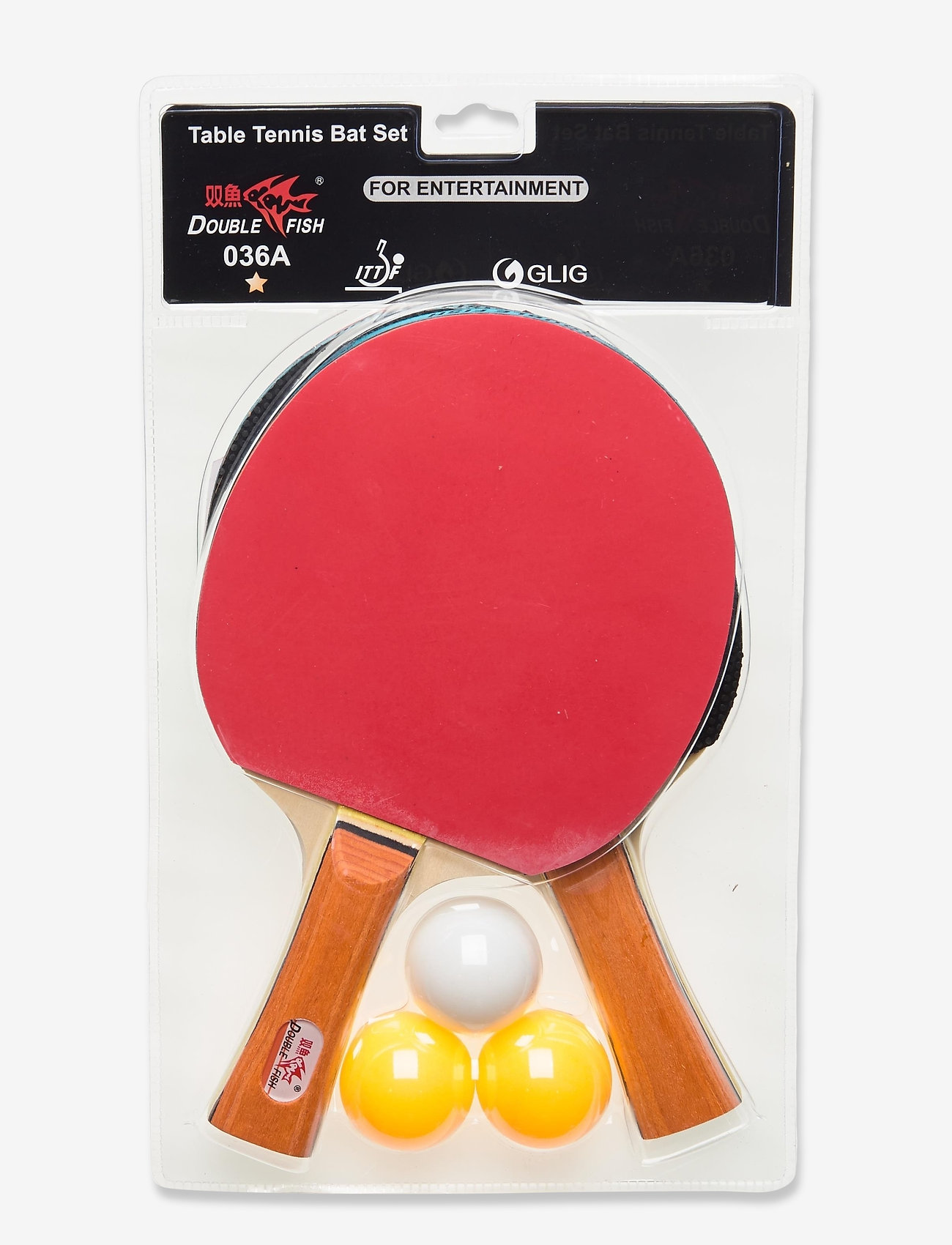 Double Fish - 036A Table Tennis Set - tischtennisschläger - 1001 black - 1