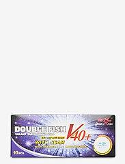 Double Fish - 40+0-star Table Tennis Ball (10 pcs.) - ballen en accessoires - 1002 white - 0