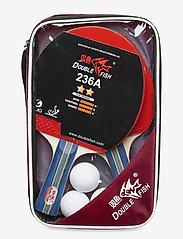 Double Fish - 236A Table Tennis Set - tafeltennis rackets - 1001 black - 0