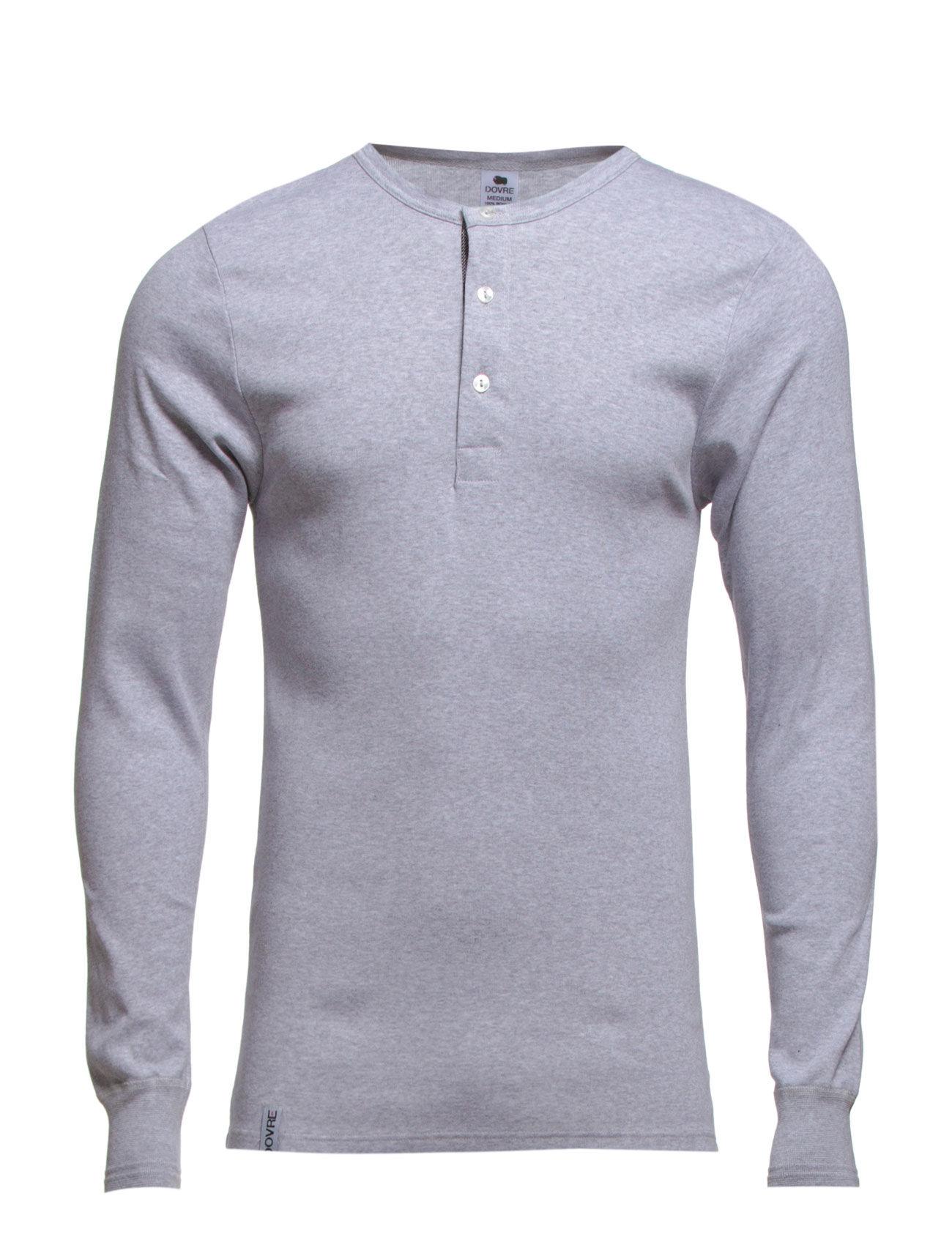 Dovre - Dovre T-shirt Long sleeves - t-krekli ar garām piedurknēm - grey melan - 0