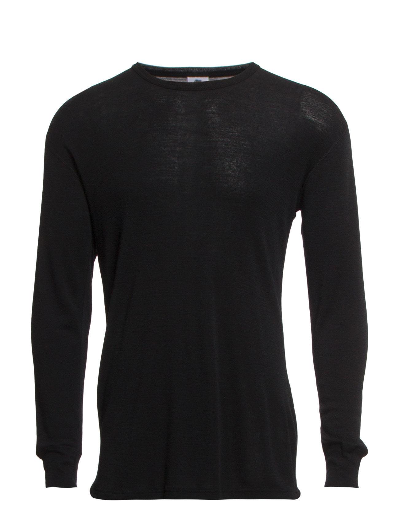 Dovre - Dovre Wool T-shirts 1/1 ærme - sort - 0