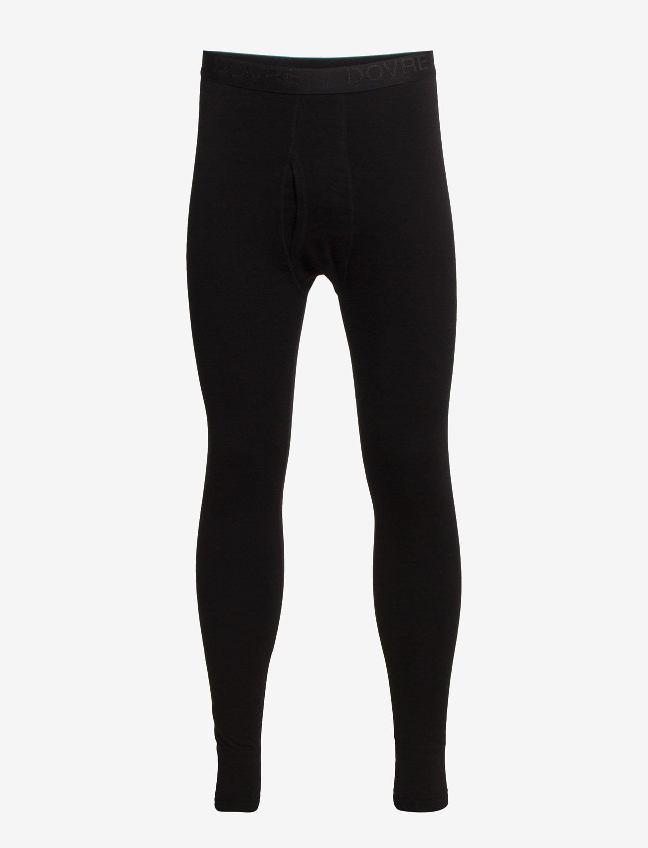Dovre - Benklæde m/lang ben og gylp - base layer bottoms - black - 0