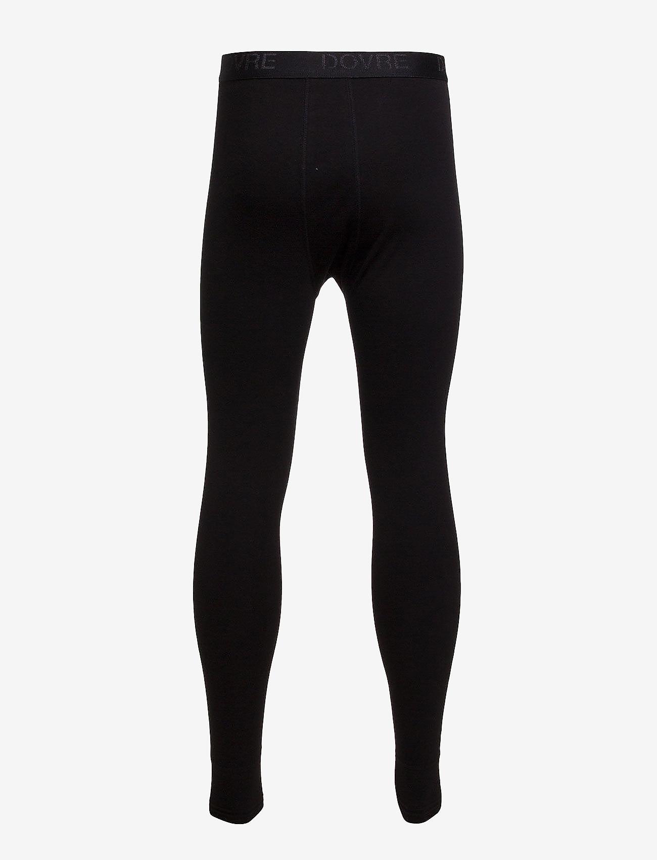Dovre - Benklæde m/lang ben og gylp - base layer bottoms - black - 1