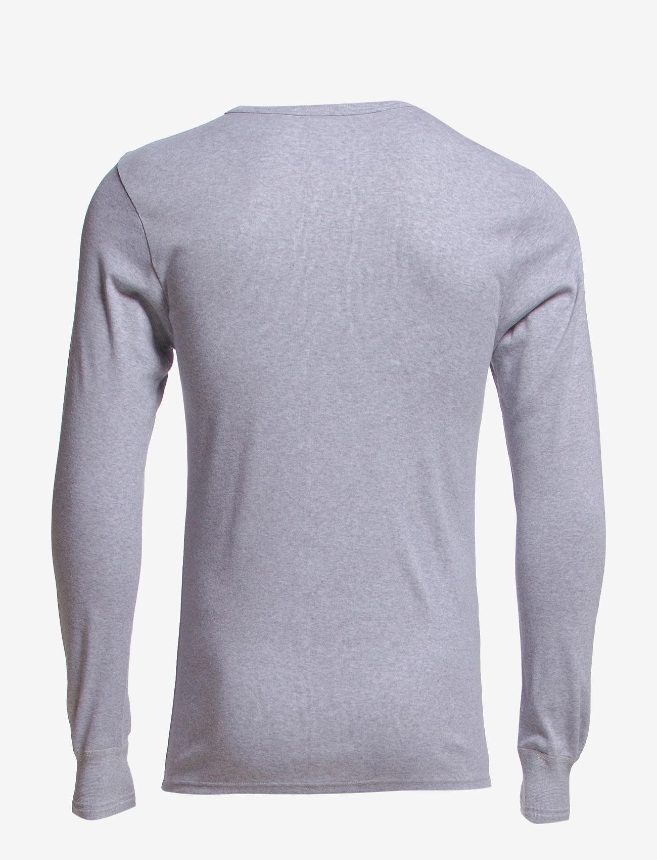 Dovre - Dovre T-shirt Long sleeves - t-krekli ar garām piedurknēm - grey melan - 1