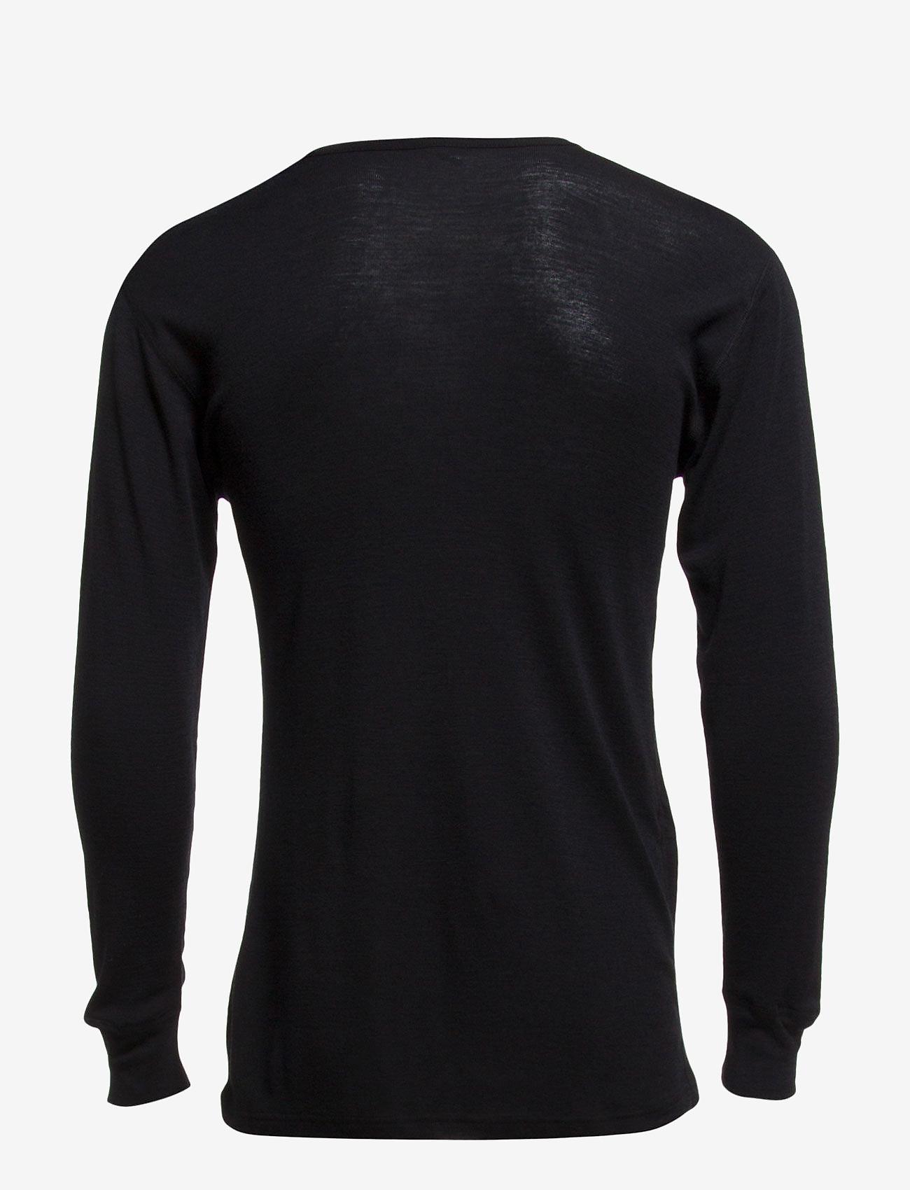 Dovre - Dovre Wool T-shirts 1/1 ærme - sort - 1