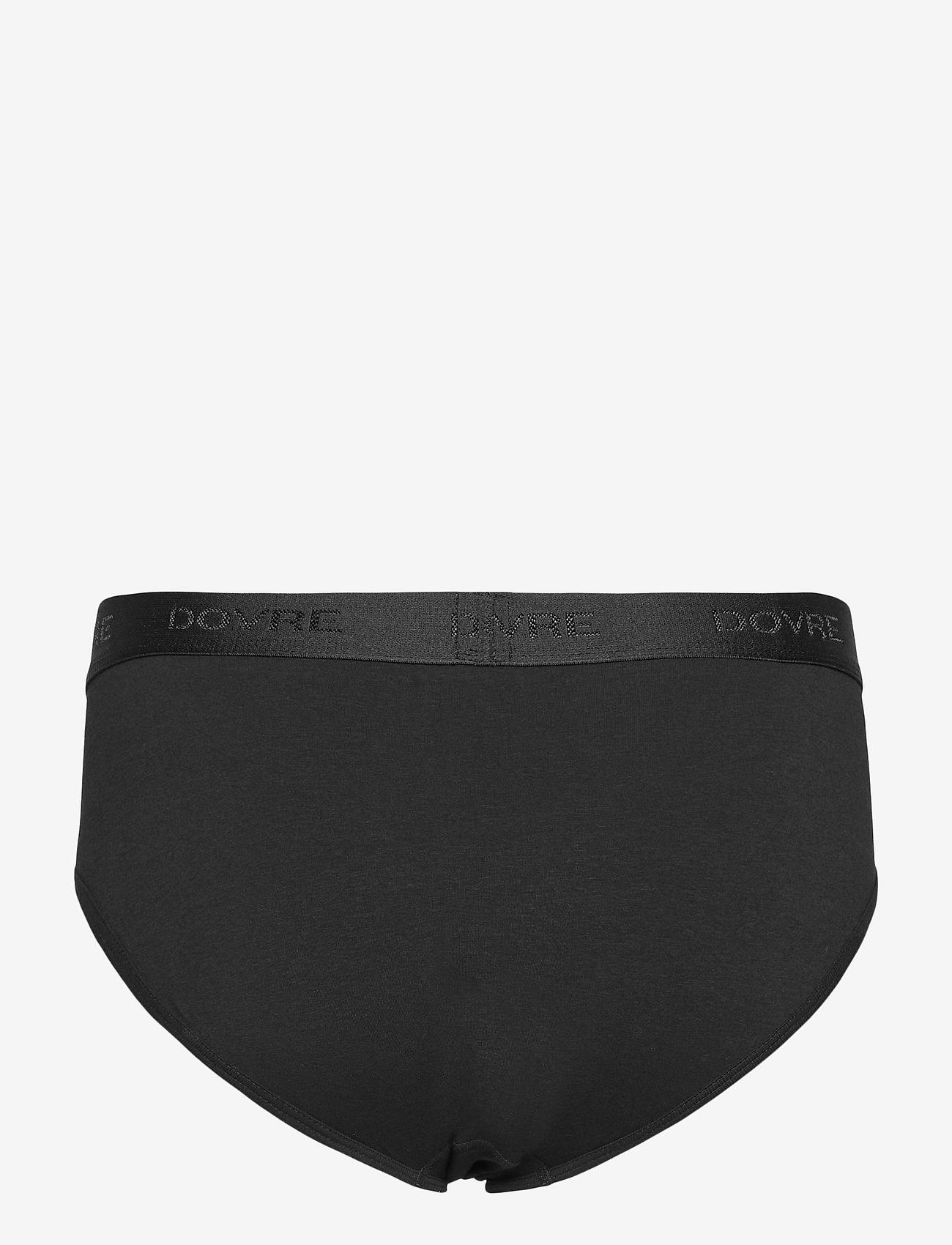 Dovre - DOVRE brief 2-pack GOTS - sous-vêtements - svart - 2
