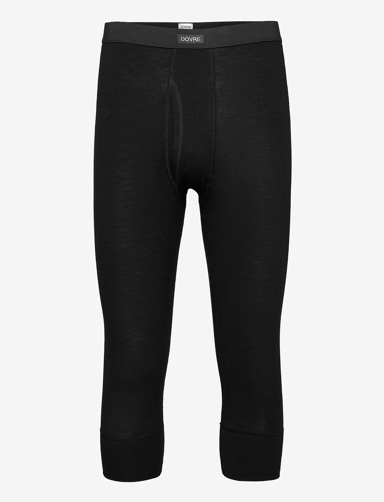 Dovre - Benklæde m/ 3/4 ben og gylp - base layer bottoms - svart - 0