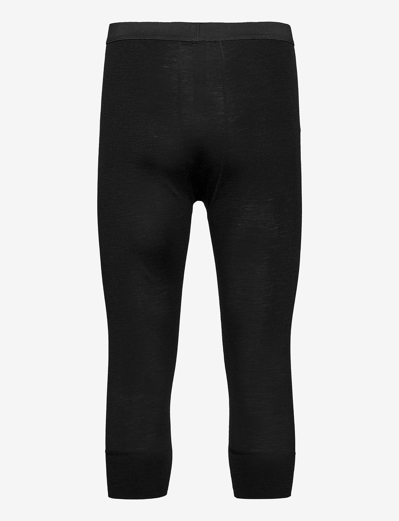 Dovre - Benklæde m/ 3/4 ben og gylp - base layer bottoms - svart - 1