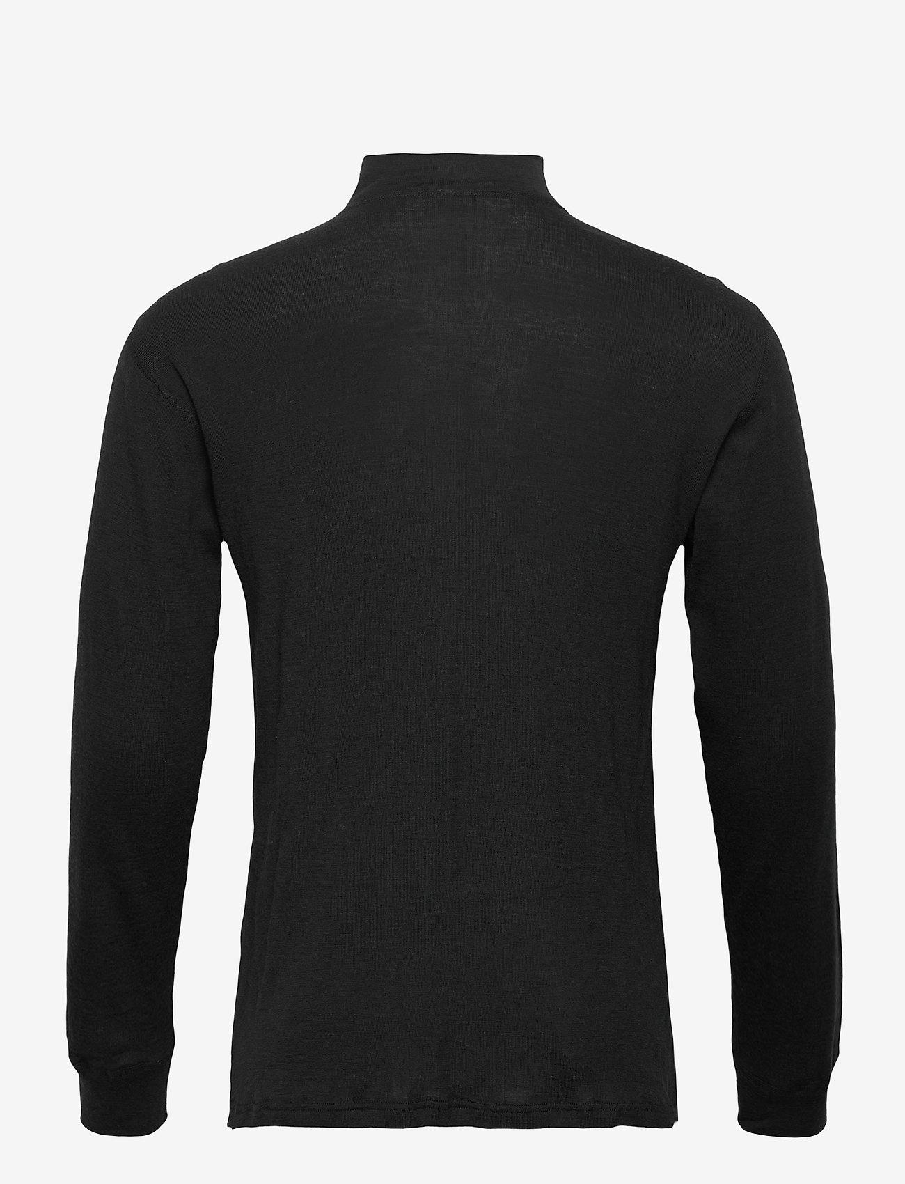 Dovre - Dovre Wool 1/1 ærme & Zipper - half zip - black - 1