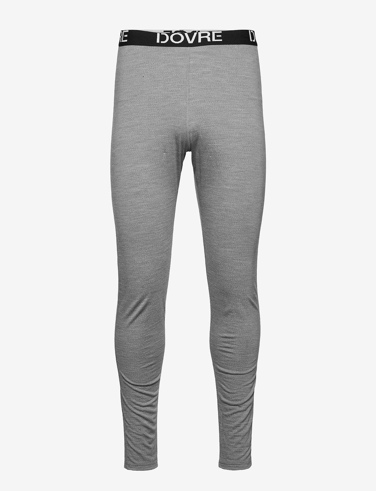Dovre - Longlegs 100% wool - base layer bottoms - ljusgrå me - 0
