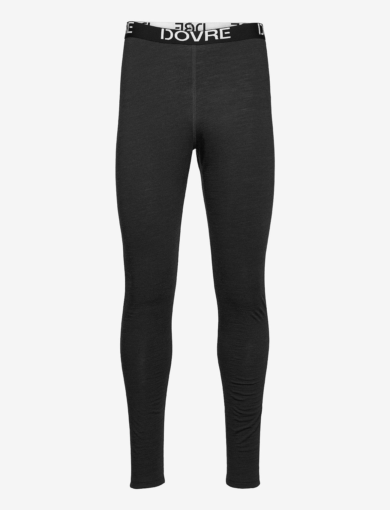 Dovre - Longlegs 100% wool - base layer bottoms - mörkgrå me - 0