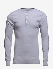 Dovre - Dovre T-shirt Long sleeves - t-krekli ar garām piedurknēm - grey melan - 2