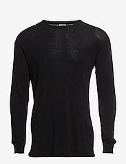 Dovre - Dovre Wool T-shirts 1/1 ærme - sort - 2