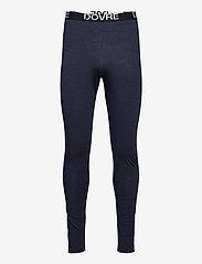 Dovre - Longlegs 100% wool - base layer bottoms - navy - 0