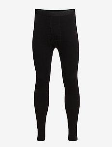 Benklæde m/lang ben og gylp - base layer underdeler - black