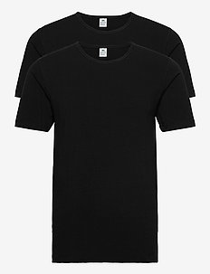 Dovre t-shirt 2-pack GOTS - basic t-shirts - svart