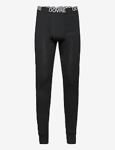 Dovre Wool Long Johns - base layer bottoms - svart