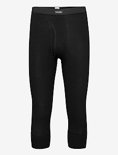 Benklæde m/ 3/4 ben og gylp - base layer bottoms - svart