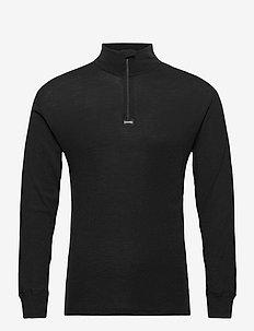 Dovre Wool 1/1 ærme & Zipper - half zip - black