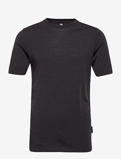 DOVRE wool t-shirt - t-shirts basiques - mörkgrå me