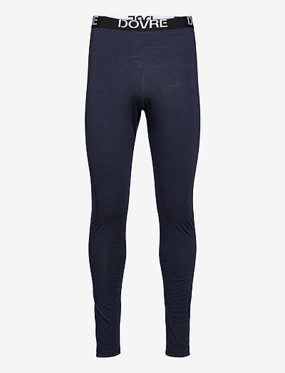 DOVRE wool long johns - collants thermiques - navy
