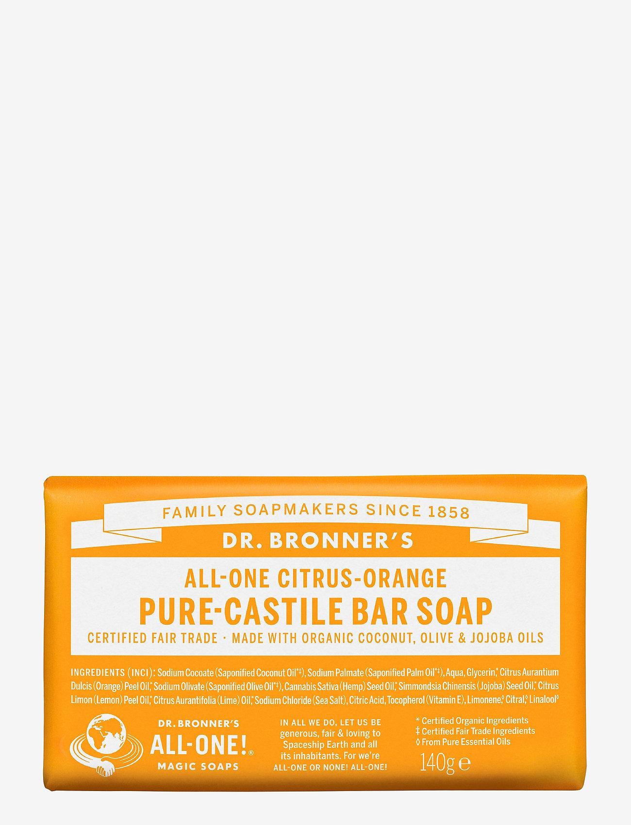 Dr. Bronner's - Pure-Castile Bar Soap Citrus-Orange - handtvål - no colour - 0