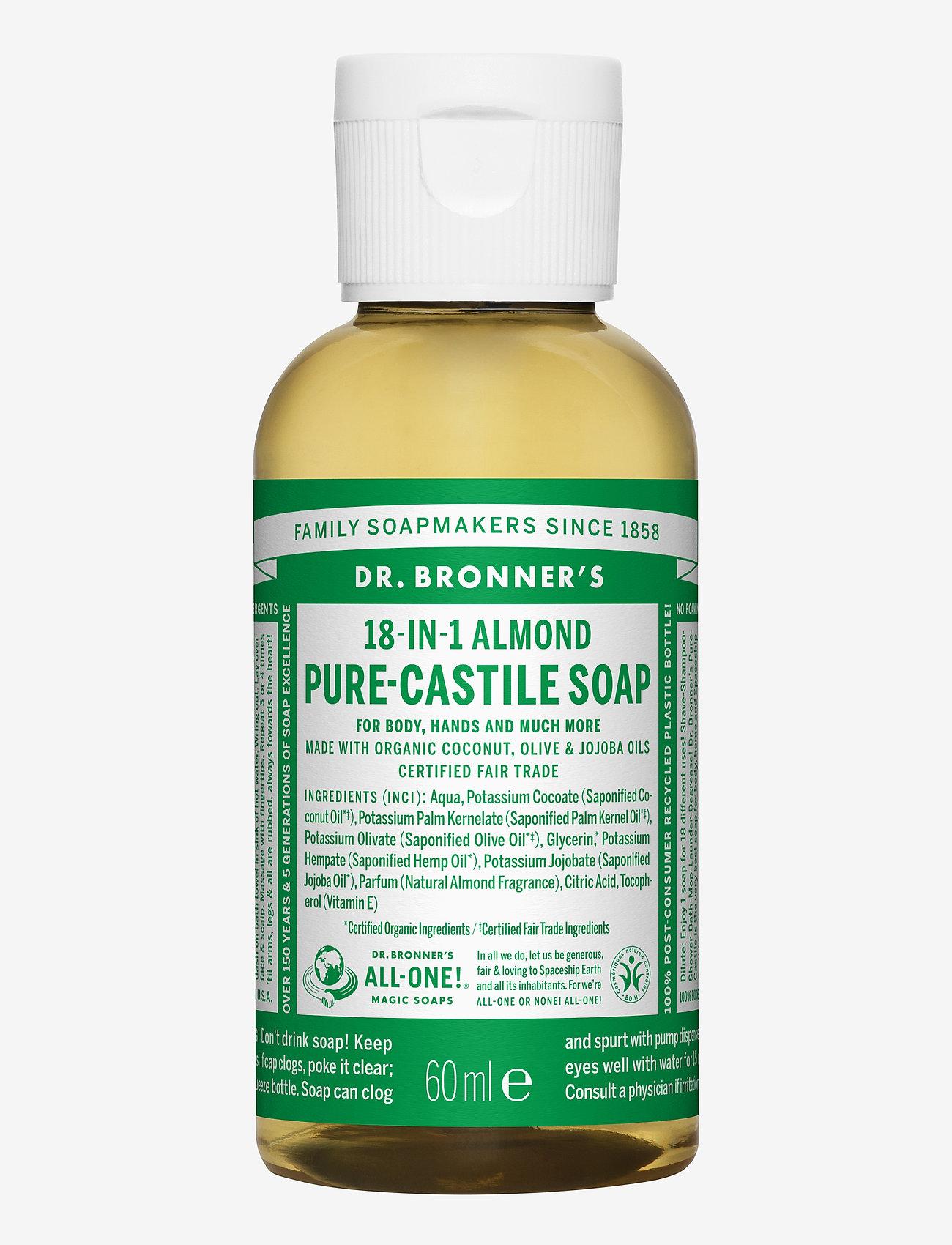 Dr. Bronner's - 18-in-1 Castile Liquid Soap Almond - handtvål - no colour - 0