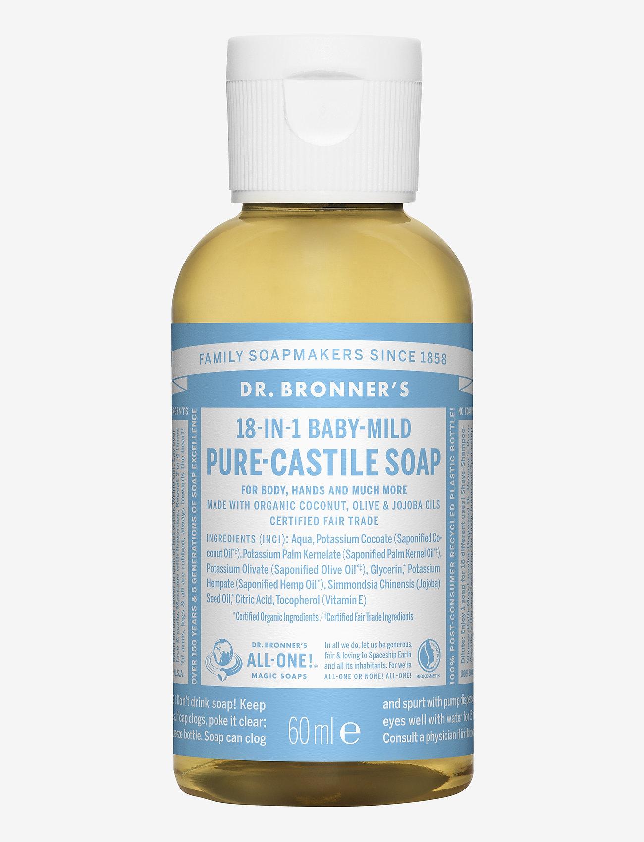 Dr. Bronner's - 18-in-1 Castile Liquid Soap Baby-Mild (unscented) - handvård - no colour - 0