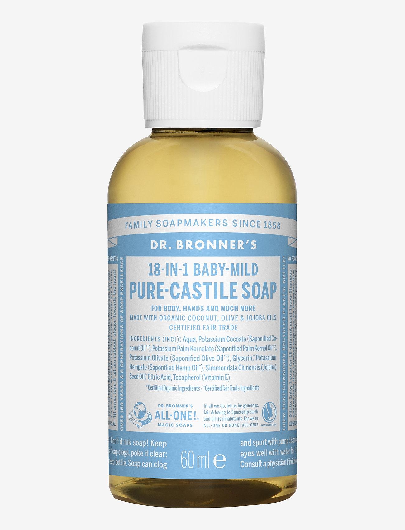 Dr. Bronner's - 18-in-1 Castile Liquid Soap Baby-Mild (unscented) - handtvål - no colour - 0