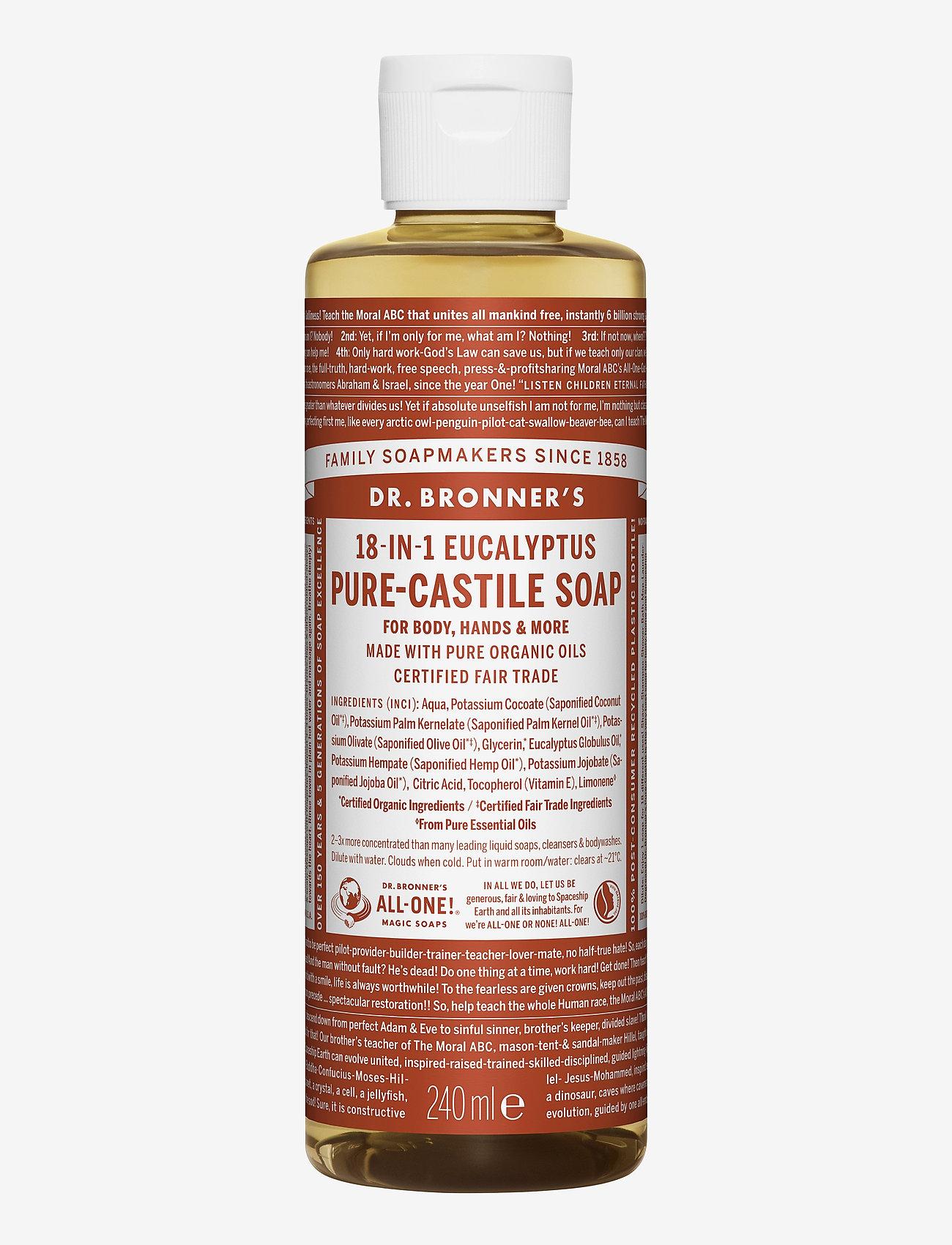 Dr. Bronner's - 18-in-1 Castile Liquid Soap Eucalyptus - handvård - no colour - 0