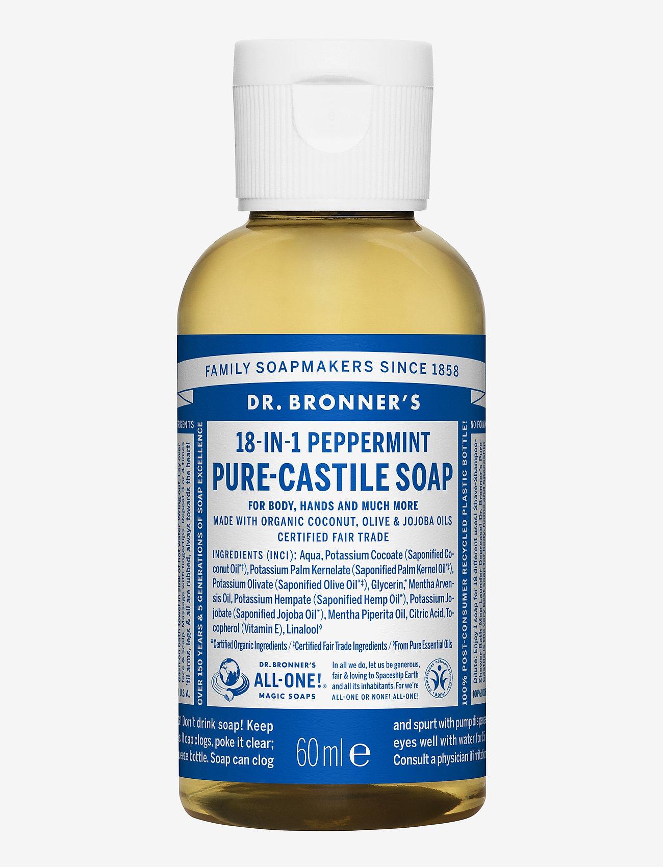 Dr. Bronner's - 18-in-1 Castile Liquid Soap Peppermint - handtvål - no colour - 0