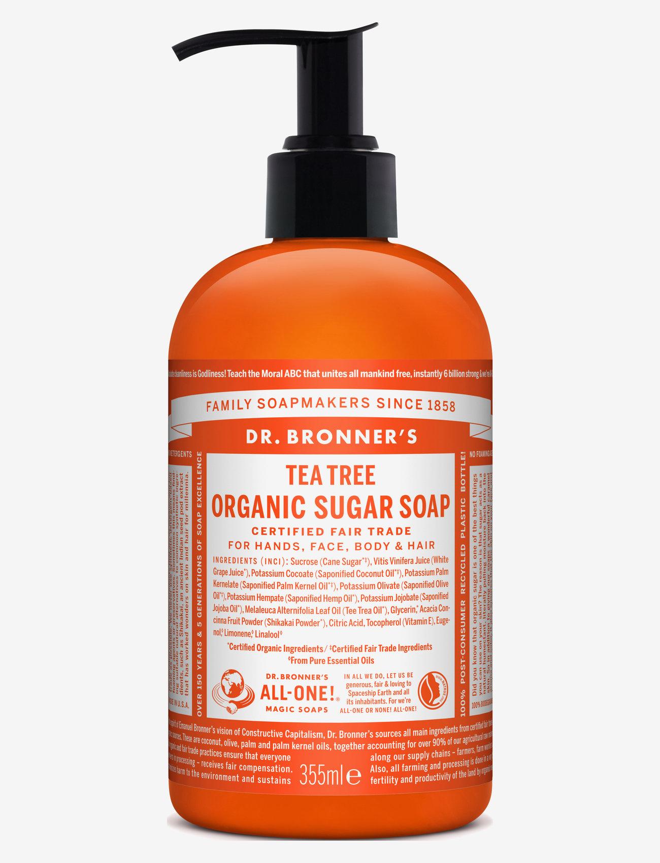 Dr. Bronner's - Sugar Soap Tea Tree - handtvål - no colour - 0