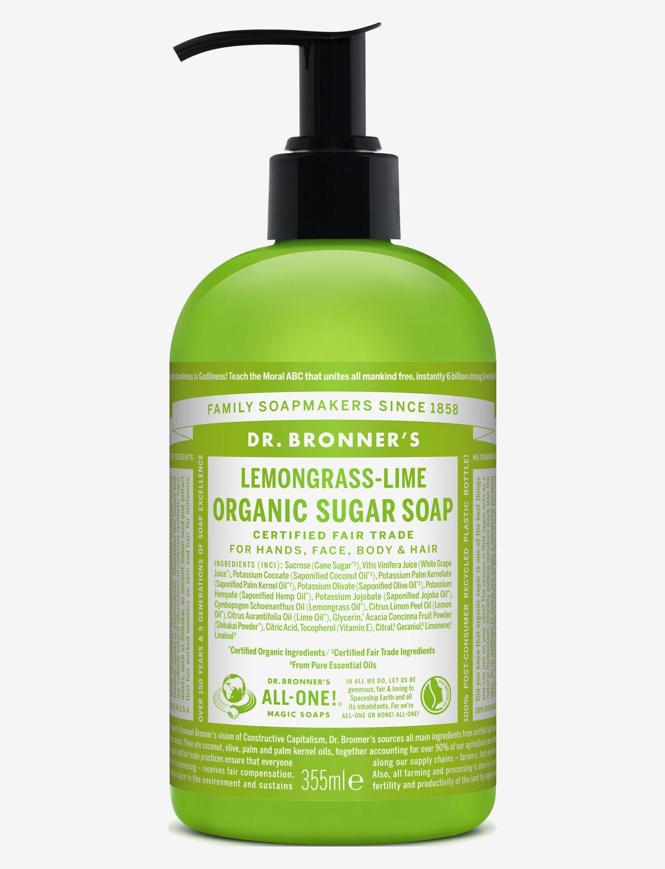 Dr. Bronner's - Sugar Soap Lemongrass-Lime - handtvål - no colour - 0