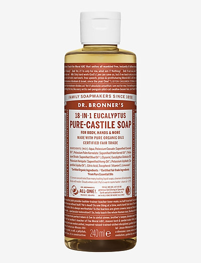 18-in-1 Castile Liquid Soap Eucalyptus - håndsåpe - no colour
