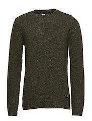 Noah Sweater - CAMO GREEN NEPS