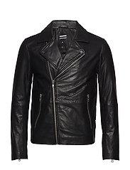 Londyn Leather Jacke - BLACK