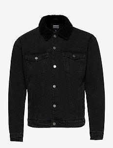 Caleb Sherpa Jacket - farkkutakit - down black