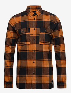 Luke Shirt - COGNAC CHECK