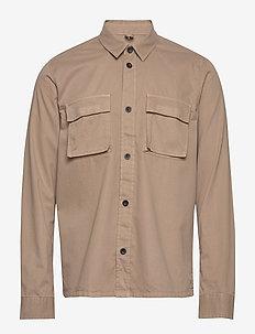 Cade Shirt - basic shirts - khaki