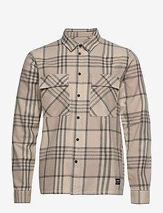 Titus Shirt - checkered shirts - cashew check