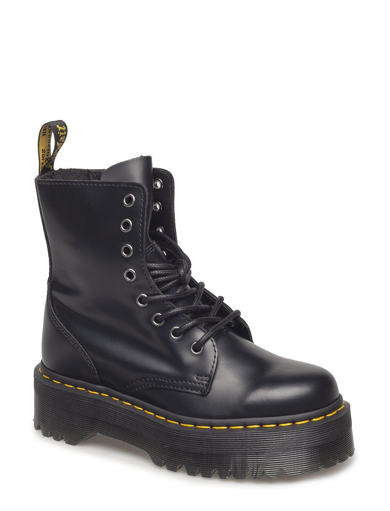 Image of Jadon Black Polished Smooth Shoes Boots Ankle Boots Ankle Boot - Flat Sort Dr. Martens (3457461665)