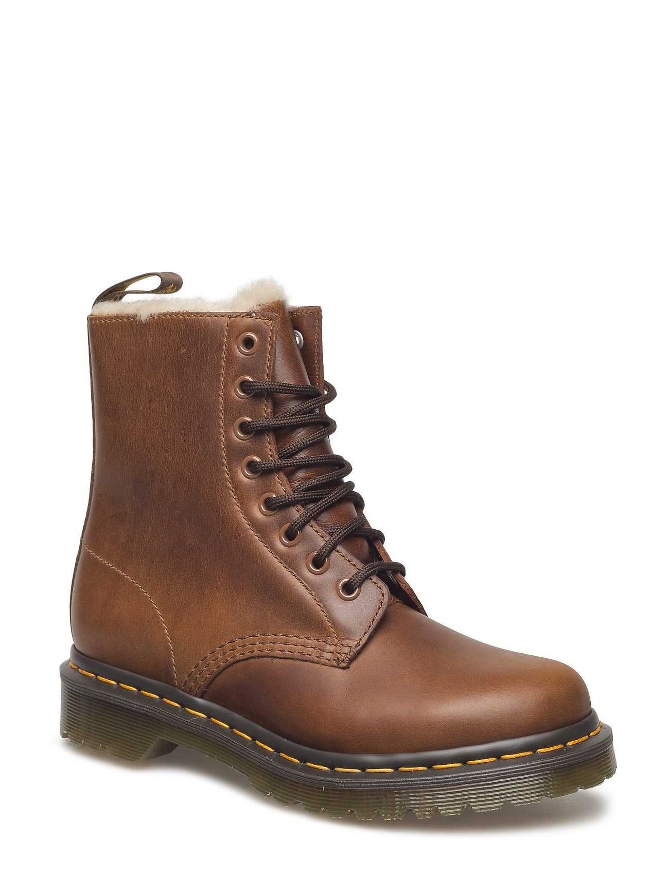 Image of 1460 Serena Butterscotch Orleans Shoes Boots Ankle Boots Ankle Boot - Flat Brun Dr. Martens (3461975561)
