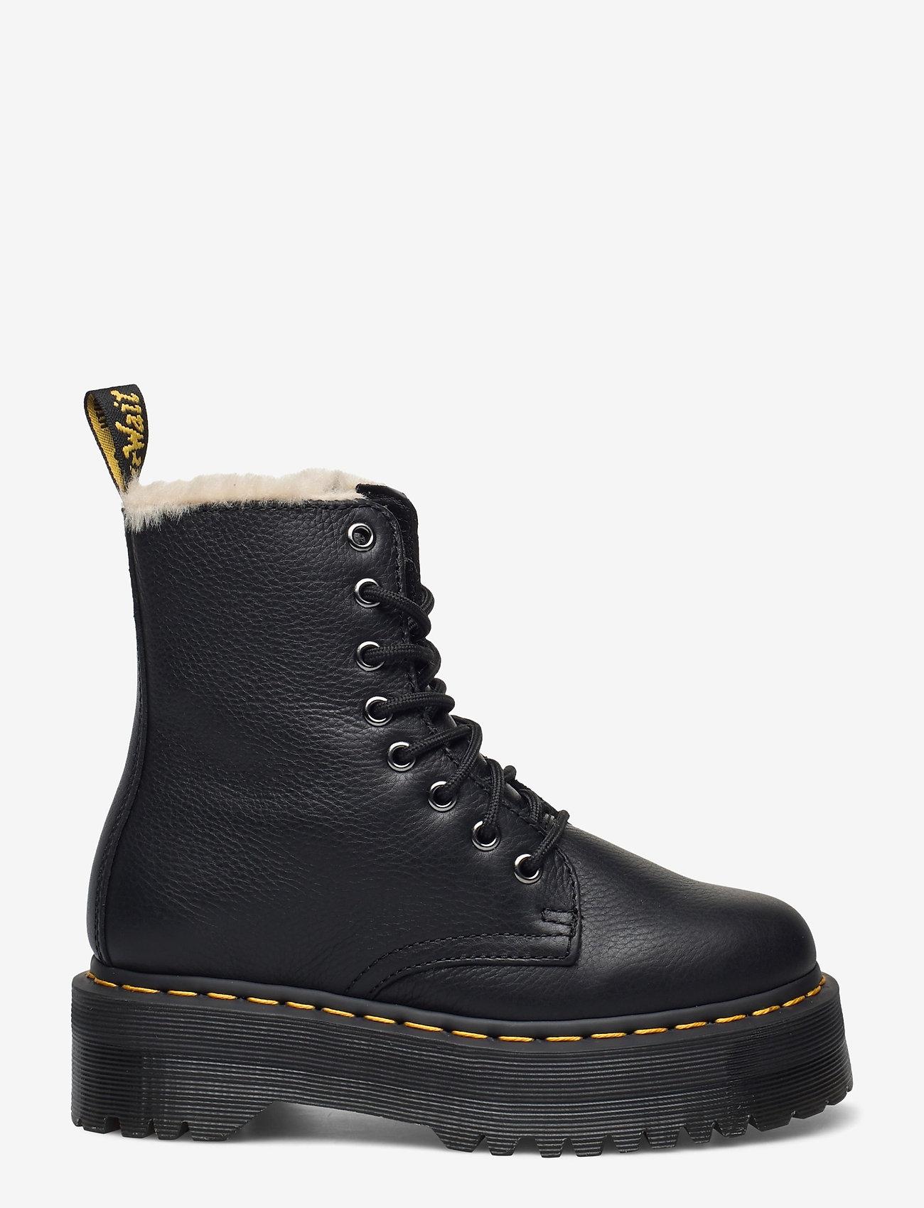 Dr. Martens - Jadon Fl Black Pisa - flat ankle boots - black - 0
