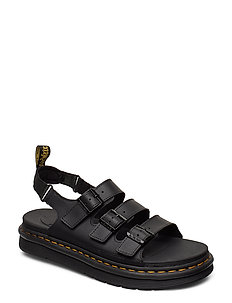 DR MARTENS CHILTON MEN'S LEATHER SLIDE SANDALS