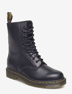 1490 Black Smooth - schnürboots - black